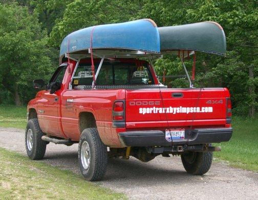 Double Canoe Racks For Trucks